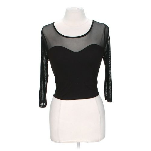 Ambiance Apparel Mesh Crop Top in size M at up to 95% Off - Swap.com