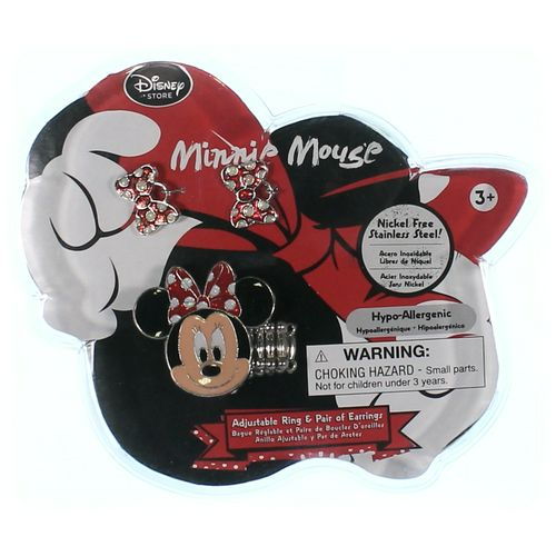 Disney Minnie Mouse Earring & Ring Set in size 3/3T at up to 95% Off - Swap.com