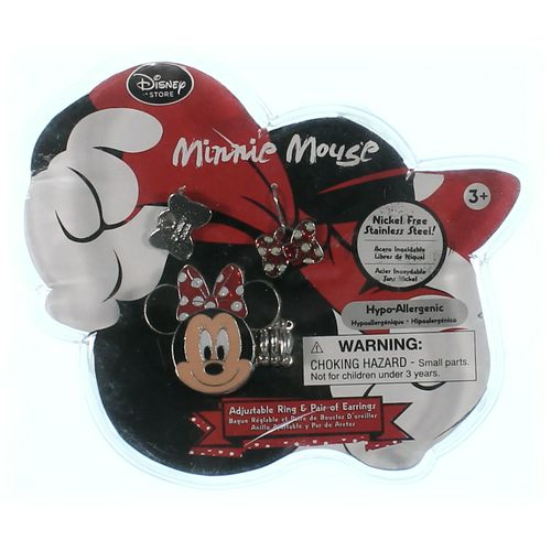 Disney Minnie Mouse Earring & Ring Set in size 4/4T at up to 95% Off - Swap.com