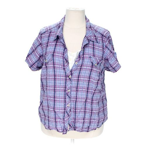 Sag Harbor Mock Layer Button-up Shirt in size 3X at up to 95% Off - Swap.com