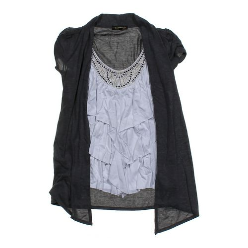 Heart Soul Mock Layered Cardigan in size JR 3 at up to 95% Off - Swap.com