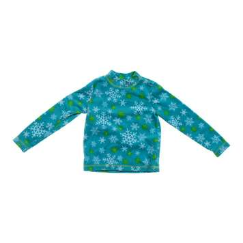 Mocked Turtle Neck Fleece Snowflakes Print Shirt for Sale on Swap.com