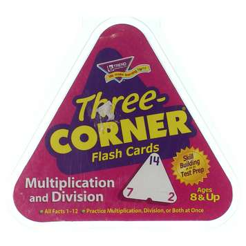 Multiplication and Division Three-Corner® Flash Cards for Sale on Swap.com