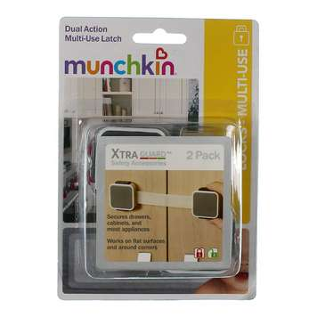 Munchkin Xtraguard Dual Action Multi Use Latches, 2 Count [Multi, 2 Count] for Sale on Swap.com