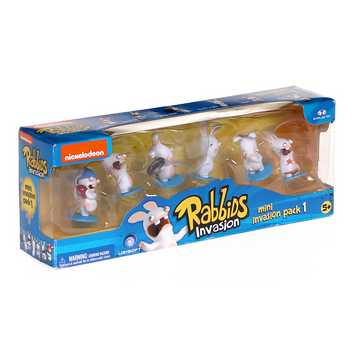 Nickelodeon Rabbids Invasion Series One 2 Inch Figure - 6 Pack for Sale on Swap.com