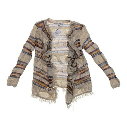 Say What? Open Front Striped Cardigan in size JR 7 at up to 95% Off - Swap.com