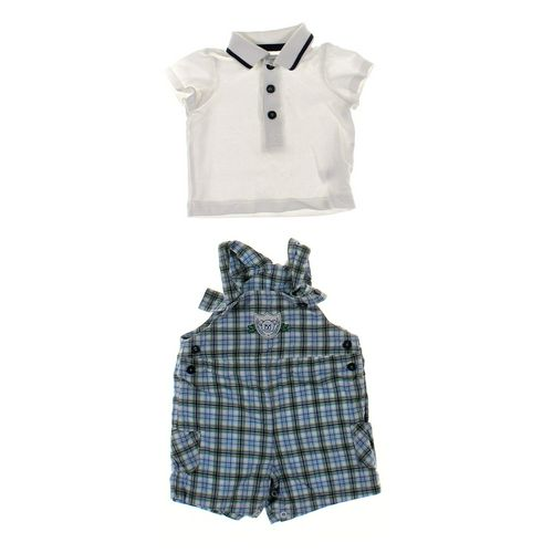 Little Me Overalls & Polo Shirt Set in size 6 mo at up to 95% Off - Swap.com