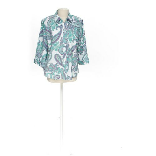 Allison Daley Paisley Button-down Shirt in size 16 at up to 95% Off - Swap.com
