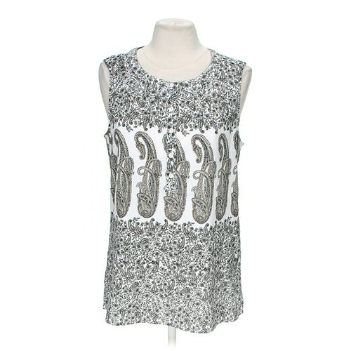 Croft & Barrow Paisley Tank Top in size M at up to 95% Off - Swap.com