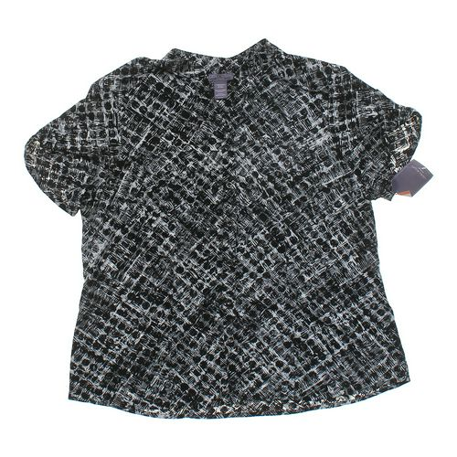 Laura Scott Patterned Button-up Blouse in size 16 at up to 95% Off - Swap.com