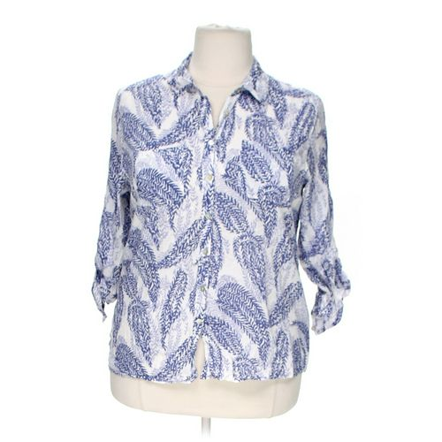 Merona Patterned Button-up Shirt in size XXL at up to 95% Off - Swap.com