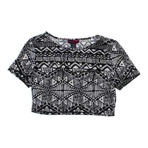 Say What? Patterned Cropped Tee in size JR 13 at up to 95% Off - Swap.com