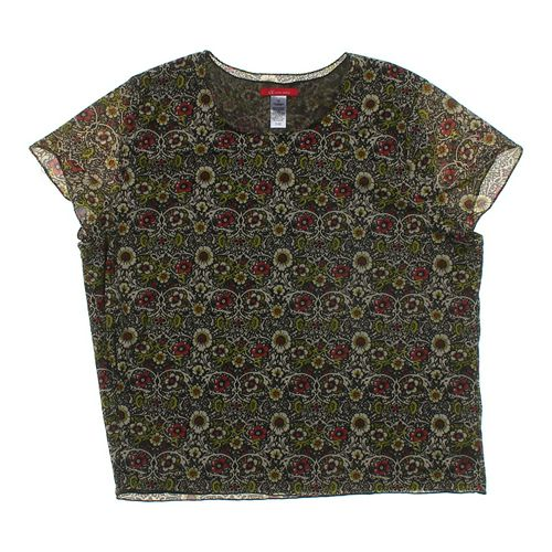 Ann Klein Patterned Mock Layered Blouse in size 2X at up to 95% Off - Swap.com