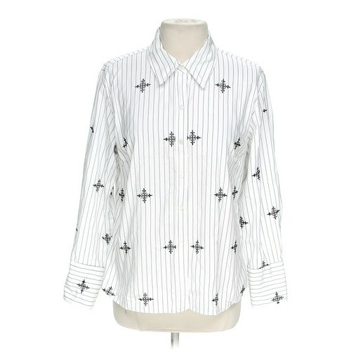 Merona Patterned Striped Button-up Shirt in size XL at up to 95% Off - Swap.com