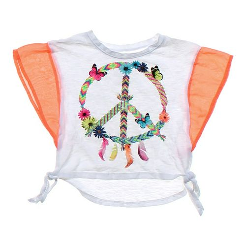 Justice Peace Shirt in size 5/5T at up to 95% Off - Swap.com