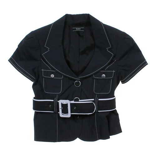 Suzy Shier Pinstripe Shirt in size JR 9 at up to 95% Off - Swap.com