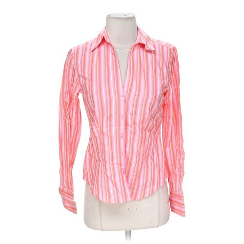 Ann Taylor Loft Pinstriped Button-up Shirt in size XS at up to 95% Off - Swap.com