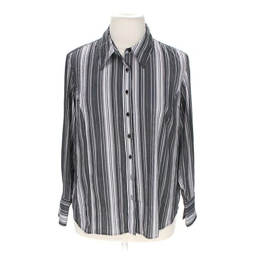 East 5th Pinstriped Button-up Shirt in size 1X at up to 95% Off - Swap.com