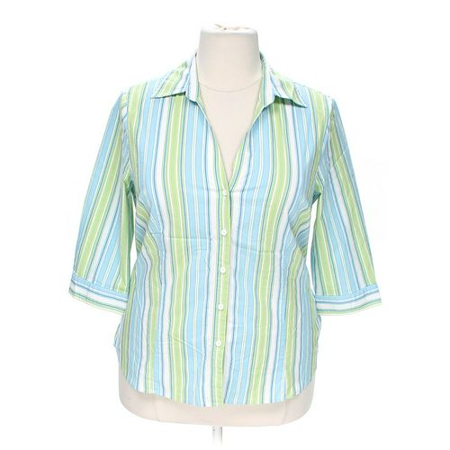 Worthington Pinstriped Button-up Shirt in size 1X at up to 95% Off - Swap.com