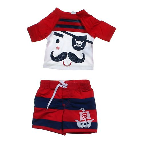Old Navy Pirate Rash Guard & Swim Trunks Set in size NB at up to 95% Off - Swap.com
