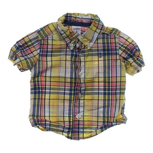 Carter's Plaid Button-down Shirt in size 6 mo at up to 95% Off - Swap.com