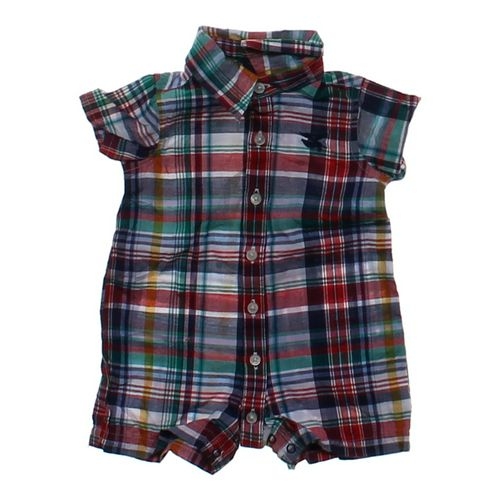 American Living Plaid Button-up Romper in size NB at up to 95% Off - Swap.com