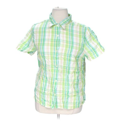 Basic Editions Plaid Button-up Shirt in size 1X at up to 95% Off - Swap.com