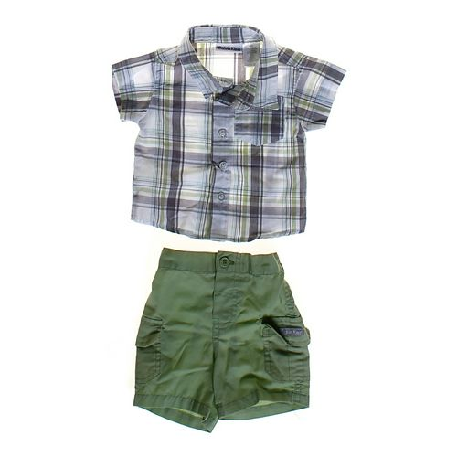 Calvin Klein Plaid Button-up Shirt & Basic Shorts in size NB at up to 95% Off - Swap.com