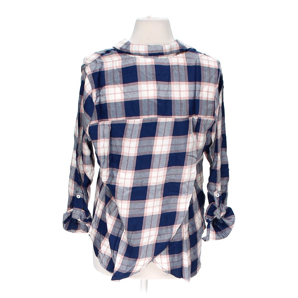Dizzy Lizzy Plaid Button Up Shirt In Size M At Up To 95