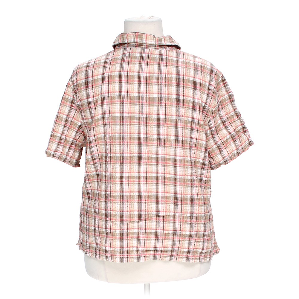 Erika plaid button up shirt in size 3x at up to 95 off for 3x shirts on sale