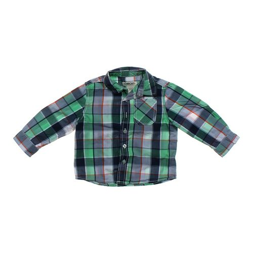 Cherokee Plaid Button-up Shirt in size 18 mo at up to 95% Off - Swap.com