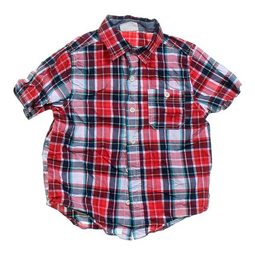 Crazy 8 Plaid Button-up Shirt in size 4/4T at up to 95% Off - Swap.com