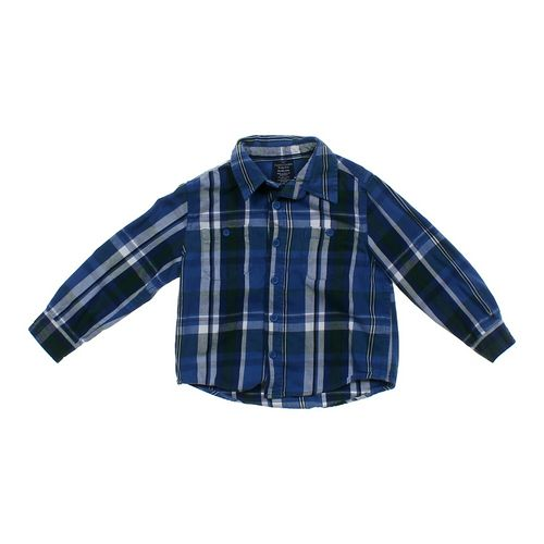 Faded Glory Plaid Button Up Shirt in size 4/4T at up to 95% Off - Swap.com