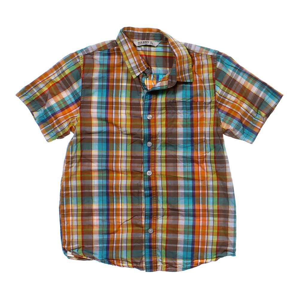 Old Navy Plaid Button Up Shirt Online Consignment