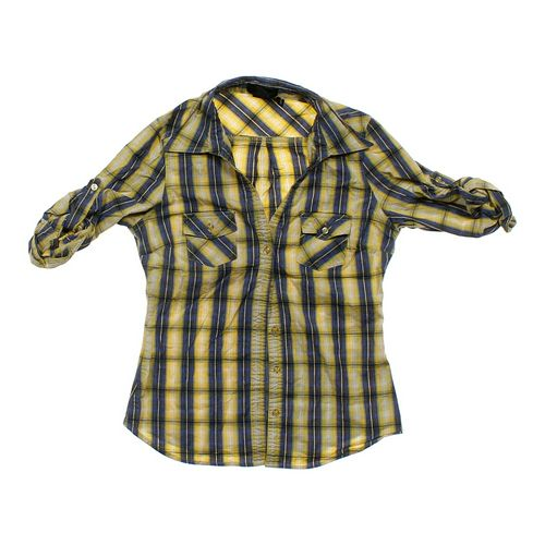 Cotton Express Plaid Button-up Shirt in size JR 11 at up to 95% Off - Swap.com