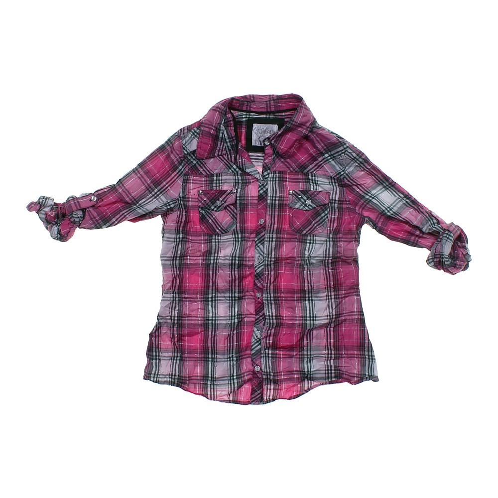 Justice Plaid Button Up Shirt Online Consignment