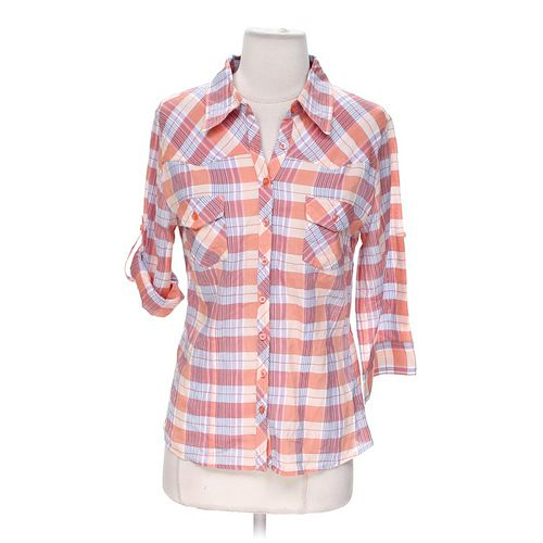 Forever 21 Plaid Button-up Shirt in size S at up to 95% Off - Swap.com