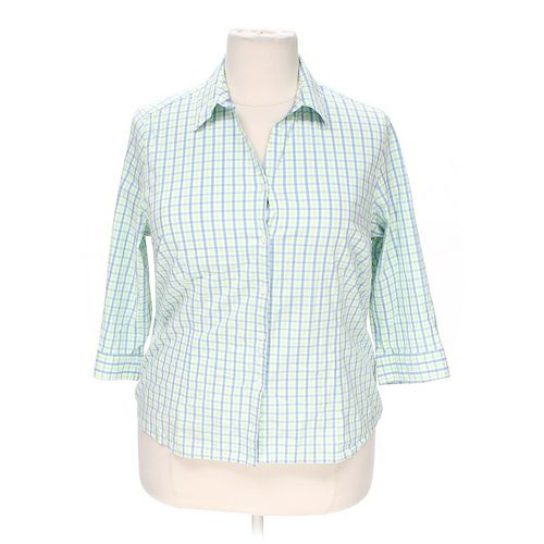Sag Harbor Plaid Button-up Shirt in size 1X at up to 95% Off - Swap.com