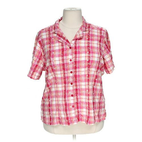 White Stag Plaid Button-up Shirt in size 22 at up to 95% Off - Swap.com