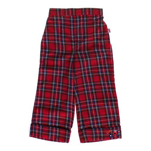 Sesame Street Plaid Elmo Pants in size 4/4T at up to 95% Off - Swap.com