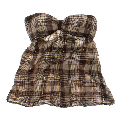 LEI Plaid Halter Top in size JR 11 at up to 95% Off - Swap.com