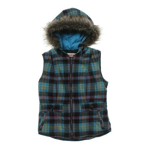 Mossimo Supply Co. Plaid Hooded Vest in size JR 3 at up to 95% Off - Swap.com