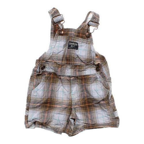 OshKosh B'gosh Plaid Overalls Shorts in size 9 mo at up to 95% Off - Swap.com