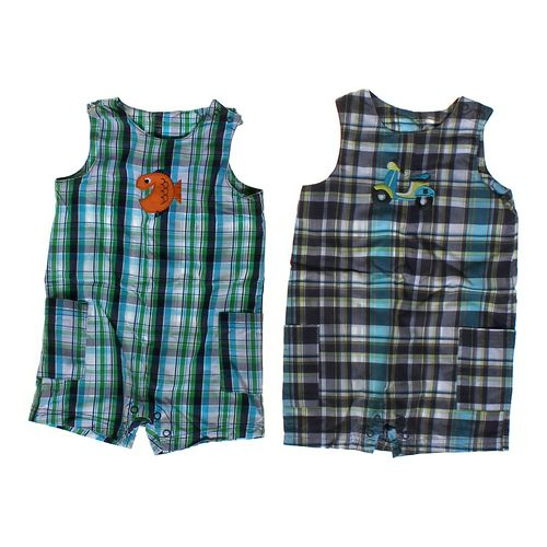 Carter's Plaid Romper Set in size 12 mo at up to 95% Off - Swap.com