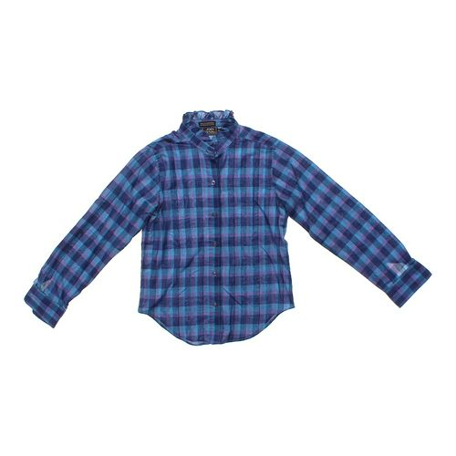 John Henry Plaid Ruffled Collar Shirt in size 10 at up to 95% Off - Swap.com