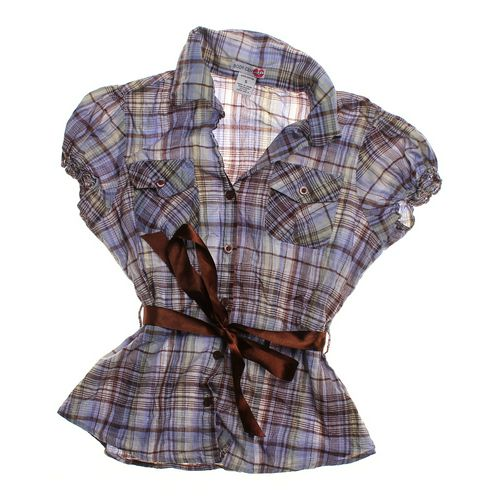 Body Central Plaid Shirt in size JR 3 at up to 95% Off - Swap.com