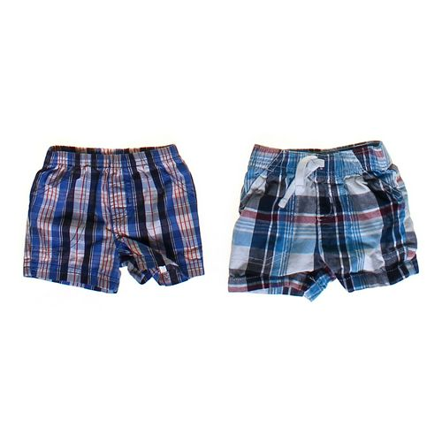 Carter's Plaid Shorts Set in size 3 mo at up to 95% Off - Swap.com