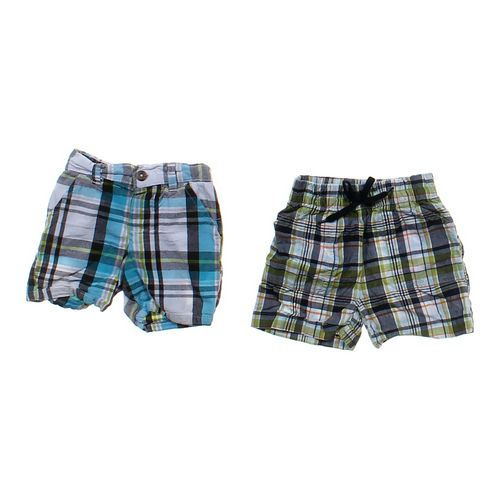 Kid Connection Plaid Shorts Set in size 12 mo at up to 95% Off - Swap.com