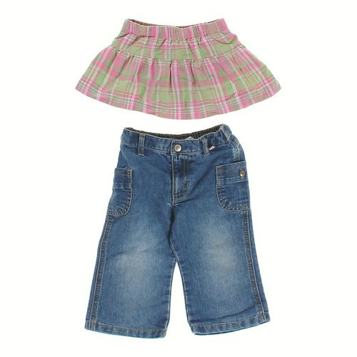 Old Navy Plaid Skirt & Denim Capri Pants in size 12 mo at up to 95% Off - Swap.com