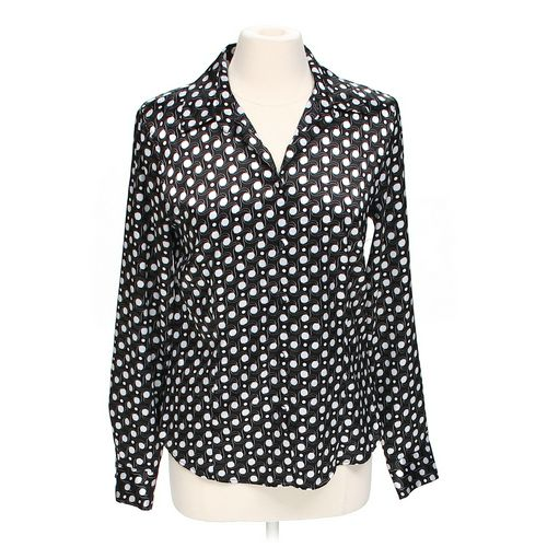 GEORGE Polka Dot Button-up Shirt in size M at up to 95% Off - Swap.com